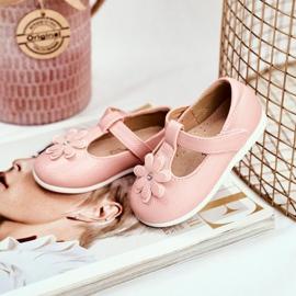 Apawwa Dětské baletky s Velcro Flower Pink Antrela růžový 4