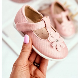 Apawwa Dětské baletky s Velcro Flower Pink Antrela růžový 2