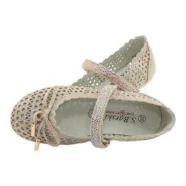S.Barski Prolamované Ballerinas Remotro Barski Velcro hnědý vícebarevný 5