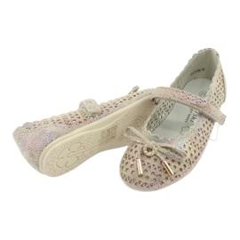 S.Barski Prolamované Ballerinas Remotro Barski Velcro hnědý vícebarevný 4