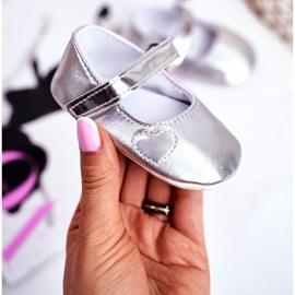 Apawwa Křest dětské tenisky na suchý zip Bellawa Silver šedá 1