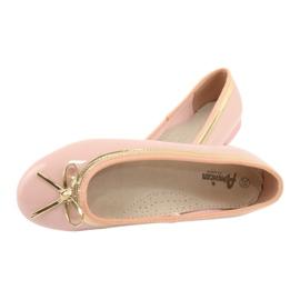 American Club Lakované americké baleríny 14297 růžový žlutý 4