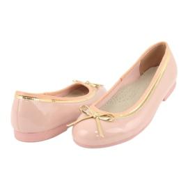 American Club Lakované americké baleríny 14297 růžový žlutý 3