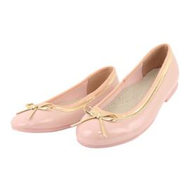 American Club Lakované americké baleríny 14297 růžový žlutý 2