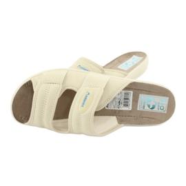 Elastické pantofle Adanex 17660 béžový 4
