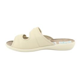 Elastické pantofle Adanex 17660 béžový 1