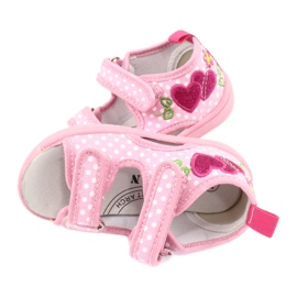 American Club Dětská obuv pantofle sandály srdce American TEN20 3