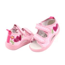 American Club Dětská obuv pantofle sandály srdce American TEN20 2