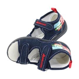 American Club Americké sandály dětské boty kožená stélka TEN46 4