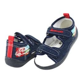 American Club Americké sandály dětské boty kožená stélka TEN46 3
