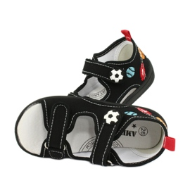 American Club Chlapecké sandály pantofle American TEN27 černá 4