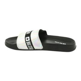 Dámské pantofle HOLO Big Star 274A005 černá šedá 1