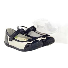 Baletka dětská obuv Ren But 1405 tmavě modrá vícebarevný bílá 4