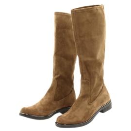 Dámské strečové boty Caprice 25512 koňaku hnědý 2
