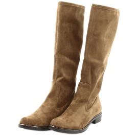 Dámské strečové boty Caprice 25512 koňaku hnědý 3