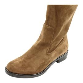 Dámské strečové boty Caprice 25512 koňaku hnědý 4