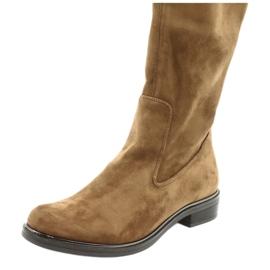 Dámské strečové boty Caprice 25512 koňaku hnědý 5