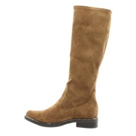 Dámské strečové boty Caprice 25512 koňaku hnědý 1