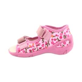 Befado dětské boty pu 065P143 růžový 2