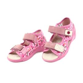 Befado dětské boty pu 065P143 růžový 3