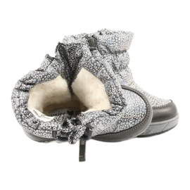 Evento Slečna holo zimní boty stříbro šedá 4
