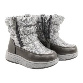 Evento Slečna holo zimní boty stříbro šedá 3