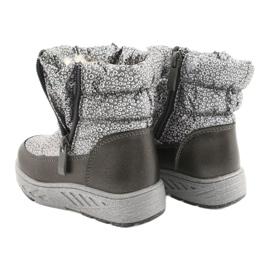 Evento Slečna holo zimní boty stříbro šedá 2
