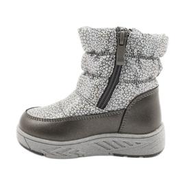 Evento Slečna holo zimní boty stříbro šedá 1