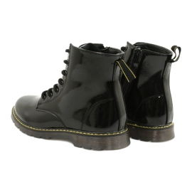 Černé lakované boty Evento 20DZ23-3216 Marita černá 7