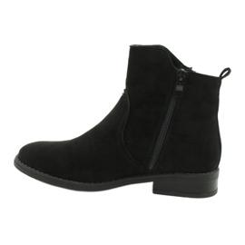 Evento Černé semišové kotníkové boty se zipy černá 1