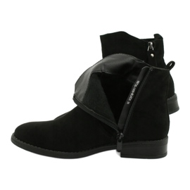 Evento Černé semišové kotníkové boty se zipy černá 3
