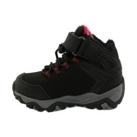 Softshellové boty s membránou American Club černá červená 1