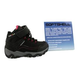 Softshellové boty s membránou American Club černá červená 5