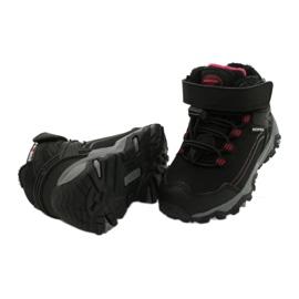 Softshellové boty s membránou American Club černá červená 3