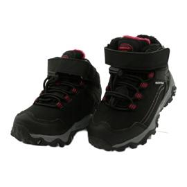 Softshellové boty s membránou American Club černá červená 2