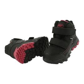 American Club Softshellové boty s membránou černá červená 3