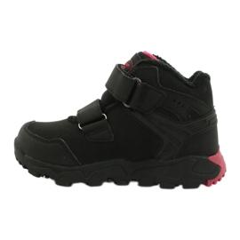 American Club Softshellové boty s membránou černá červená 1