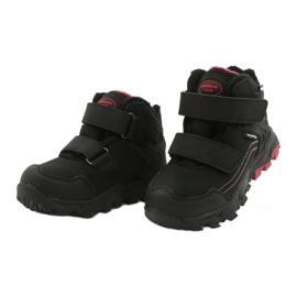 American Club Softshellové boty s membránou černá červená 2