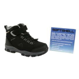 American Club Americké softshellové boty zimní boty s membránou černá šedá 5
