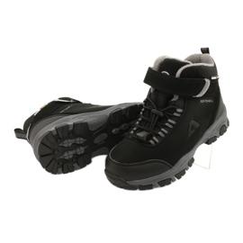 American Club Americké softshellové boty zimní boty s membránou černá šedá 3