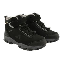 American Club Americké softshellové boty zimní boty s membránou černá šedá 4