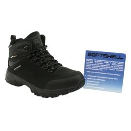 American Club Americké trekové softshellové boty s membránou černá 5