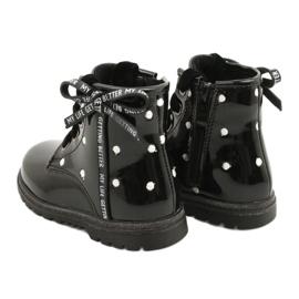 Evento Dívčí boty, lakovaná mašle 20DZ60-3246 černá 3
