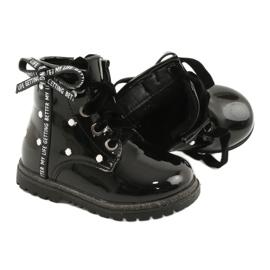 Evento Dívčí boty, lakovaná mašle 20DZ60-3246 černá 4