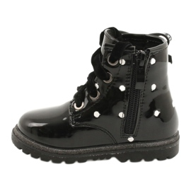 Evento Dívčí boty, lakovaná mašle 20DZ60-3246 černá 1