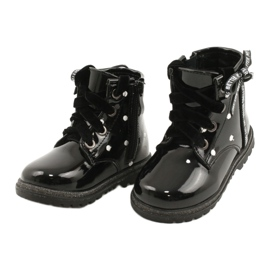 Evento Dívčí boty, lakovaná mašle 20DZ60-3246 černá 2