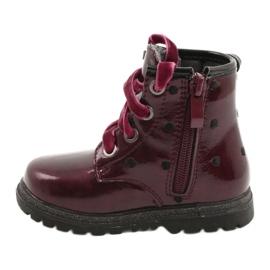 Evento Dívčí boty, lakovaná mašle 20DZ60-3246 WINE černá červená zlato 1