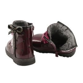 Evento Dívčí boty, lakovaná mašle 20DZ60-3246 WINE černá červená zlato 4