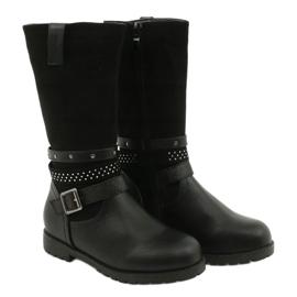 Černé dívčí boty s kubickými zirkony Evento 20DZ60-3229 černá 2