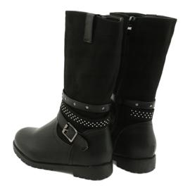Černé dívčí boty s kubickými zirkony Evento 20DZ60-3229 černá 1